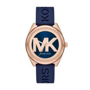 Michael Kors Janelle Navy Silicone Watch
